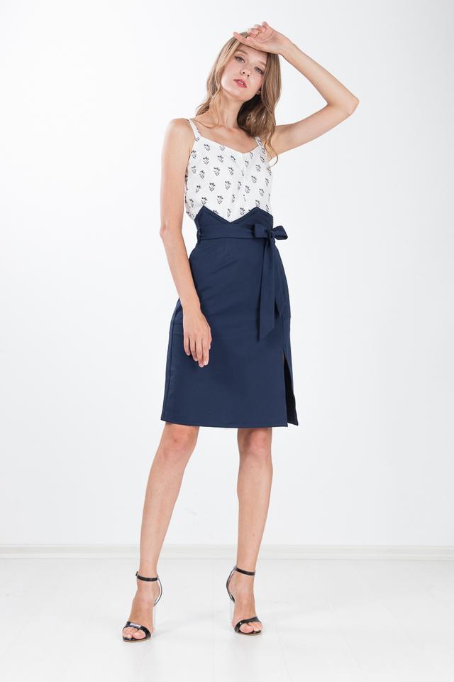 Lita Paper Bag Skirt in Yale Blue