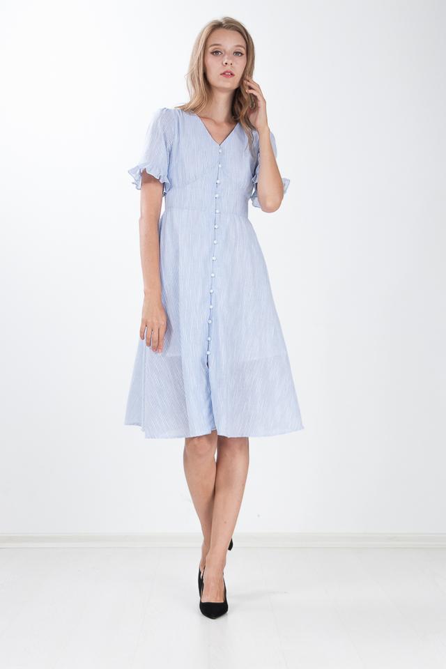 Hema Striped Midi Dress