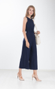 Panni Crochet Cape Jumpsuit in Navy Blue