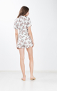 Bettina Floral Trench Romper in White