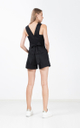 Candace Tie Romper in Black