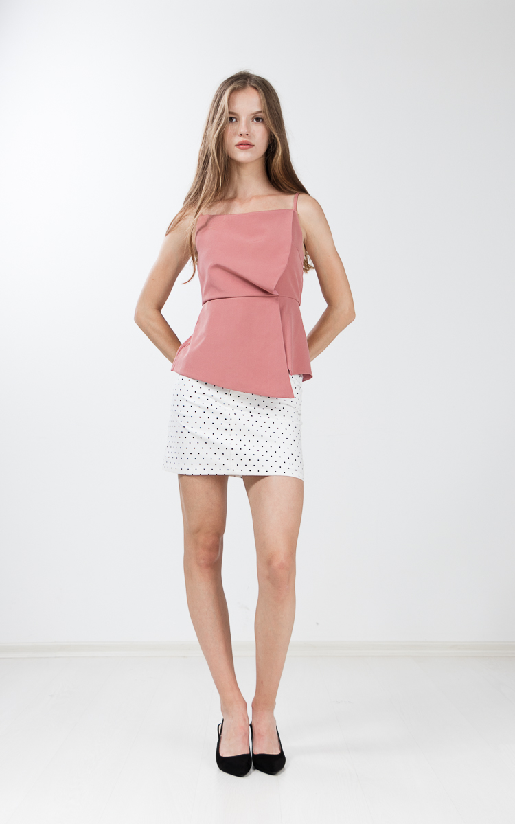 Wynne Peplum Top in Pink