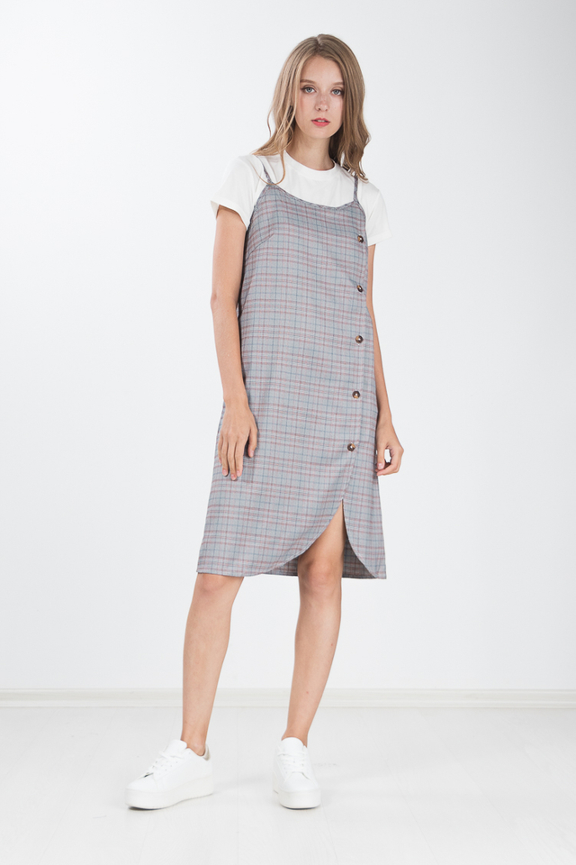 Sharmie 2 Piece Plaid Dress