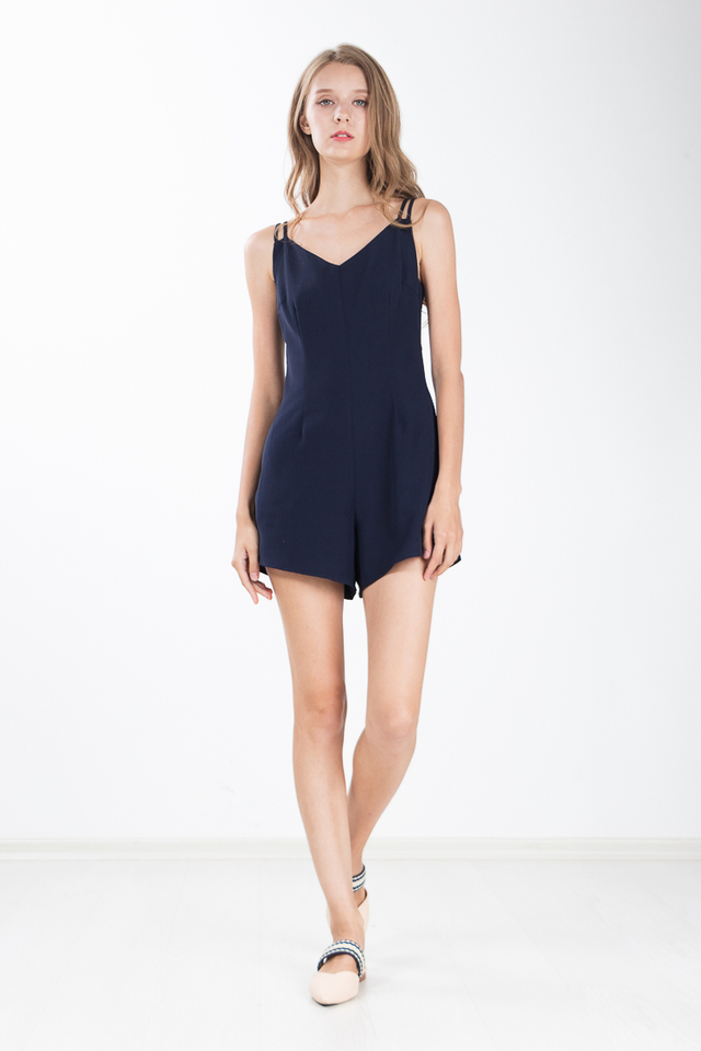 Austin Romper in Navy Blue