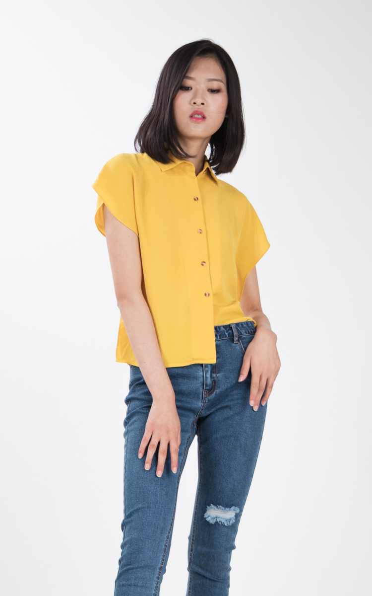 Risther Top in Mustard