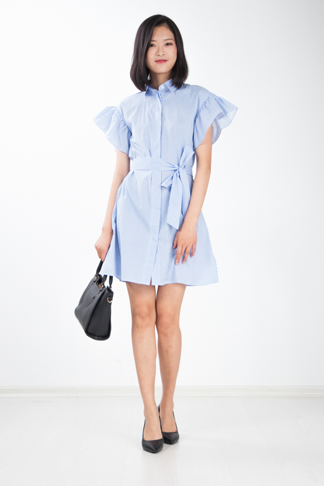 Nia Stripe Shirt Dress