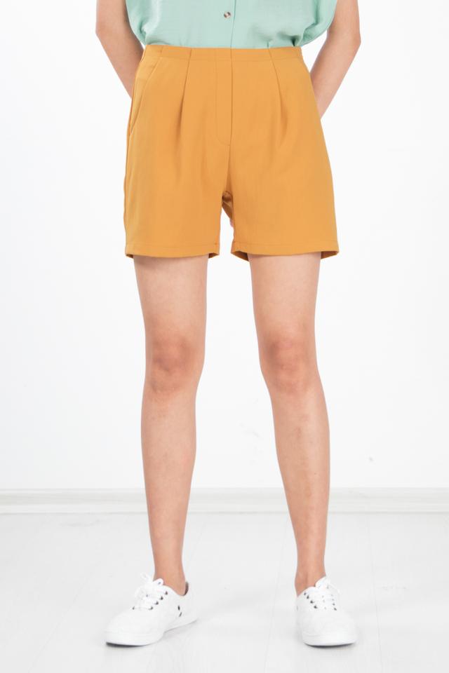 Peja Culottes Shorts in Mustard