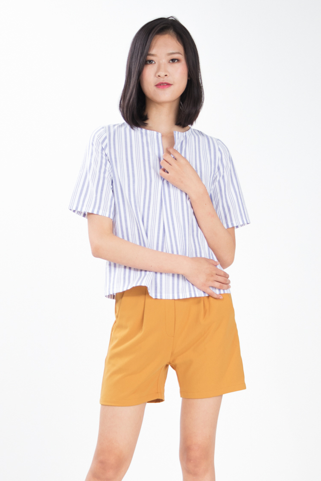 Sukie Stripe Top in Blue