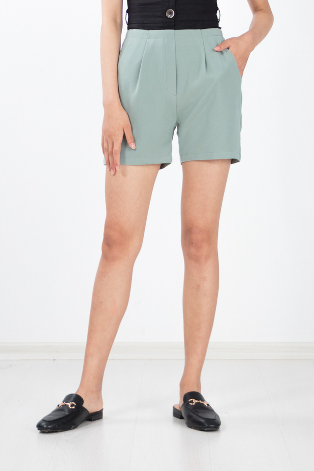 Peja Culottes Shorts in Sage Green