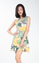 Nira Floral Dress in White