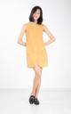 Denki Suede Pocket Dress in Mustard