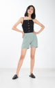Peja Culottes Shorts in Sage Green