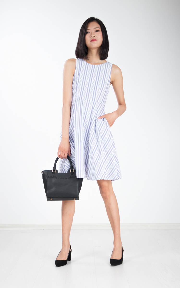 Jaime Stripe Skater Dress
