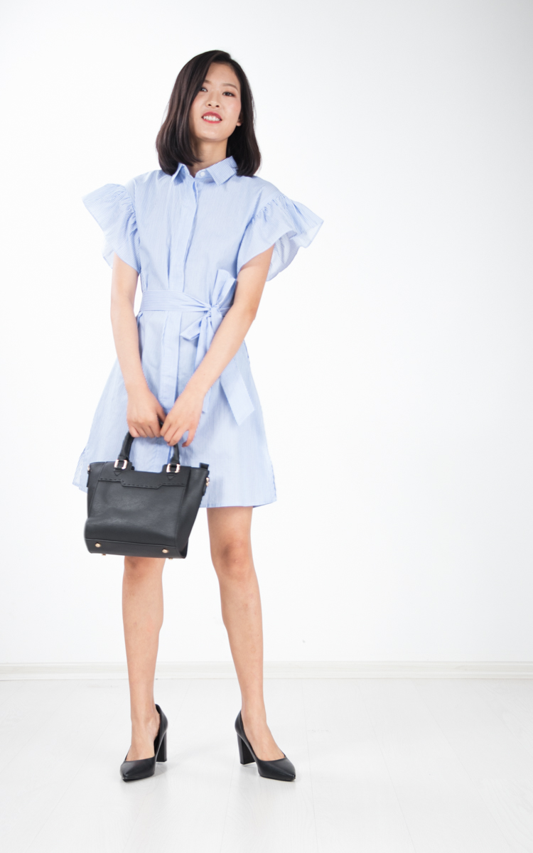 Nia Stripe Shirt Dress