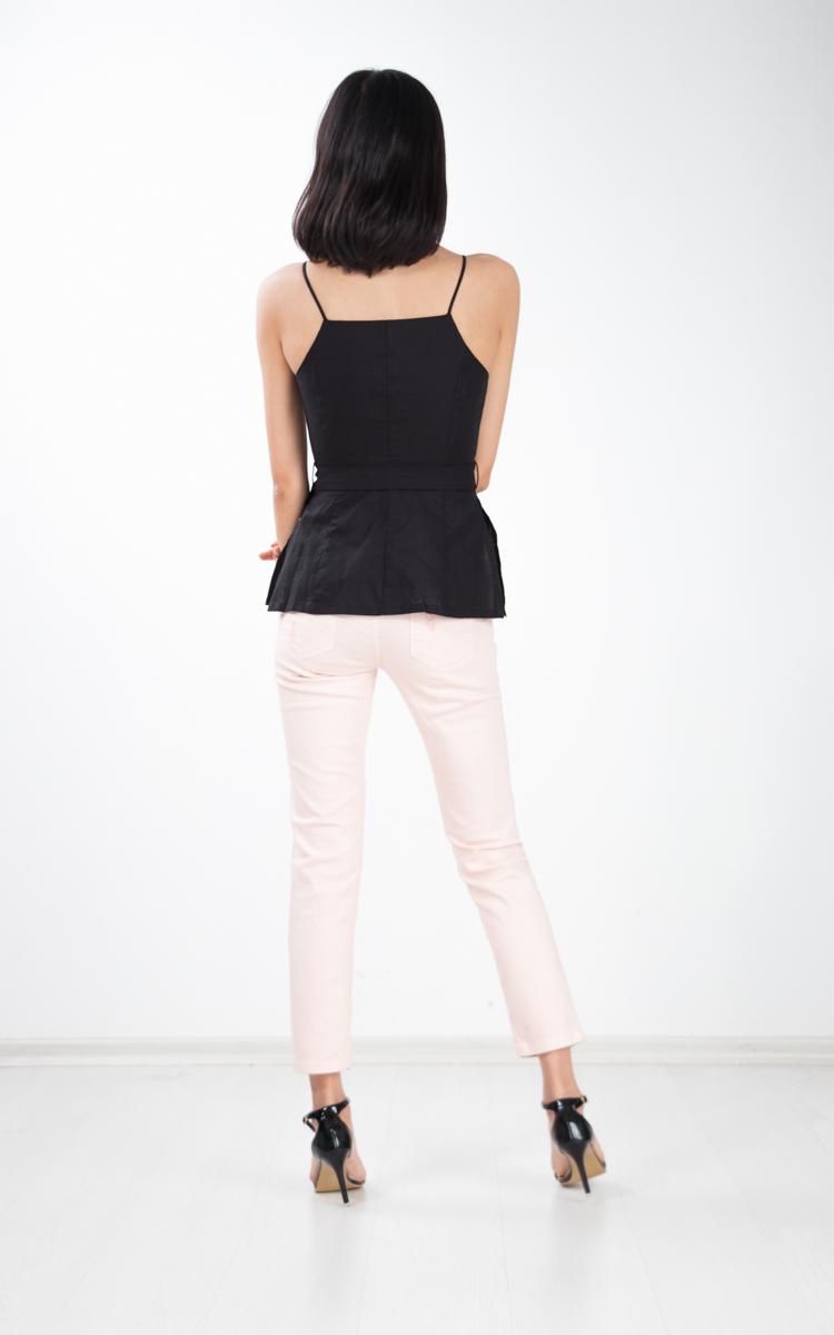Collette Button Top in Black