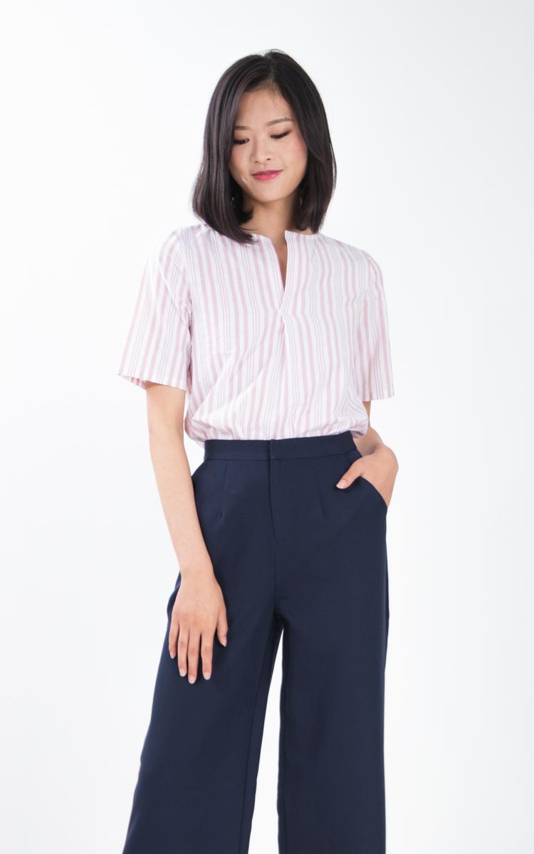 Sukie Stripe Top in Pink