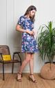 Poppy Floral Dress in Dusty Blue