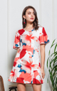 Rhys Floral Dress in White