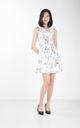 Donna Floral Dress in White