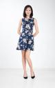 Donna Floral Dress in Navy Blue