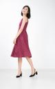 Kludi Dotted Midi Dress in Wine Red