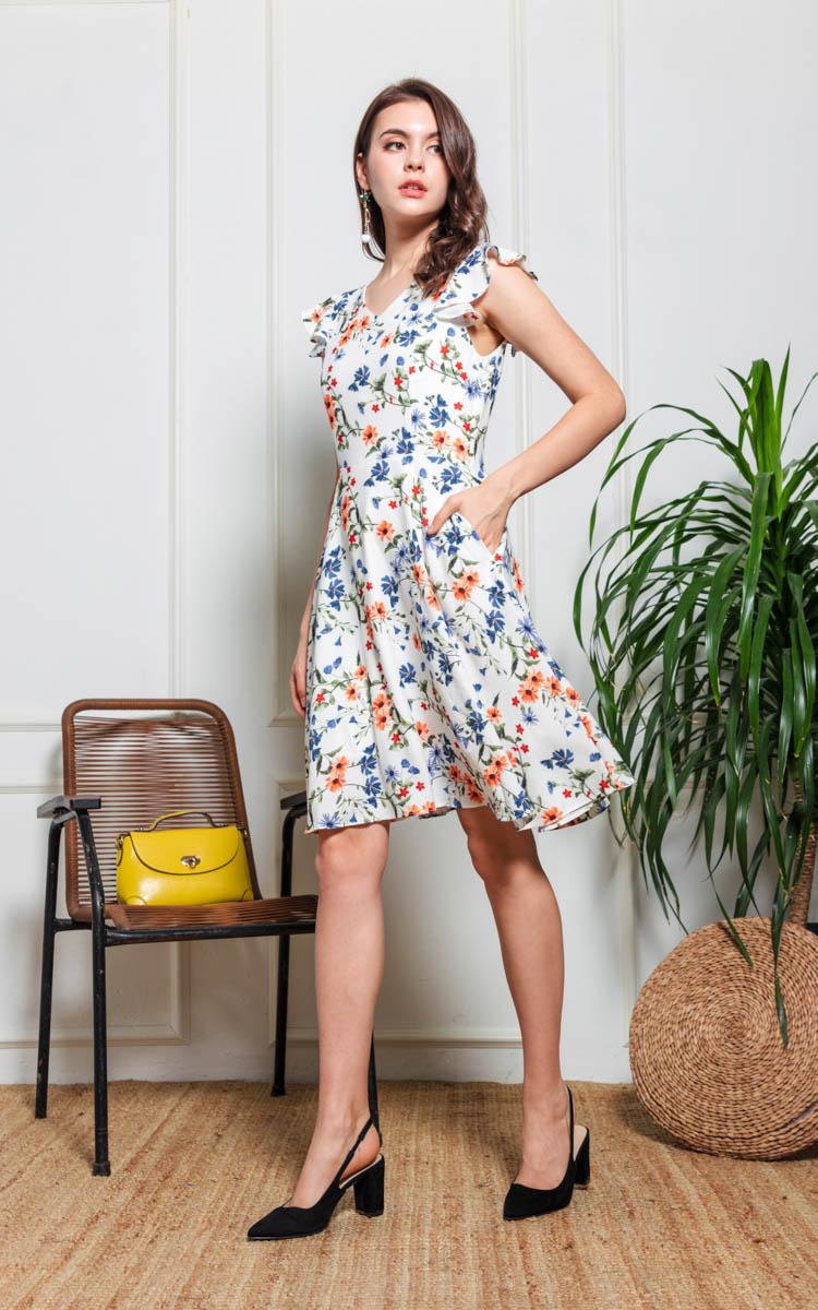 Genie Floral Flare Dress