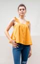 Abia Eyelet Top in Marigold