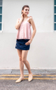 Abia Eyelet Top in Pink
