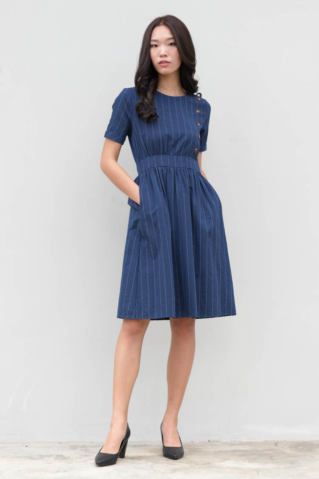 Kino Linen Striped Dress