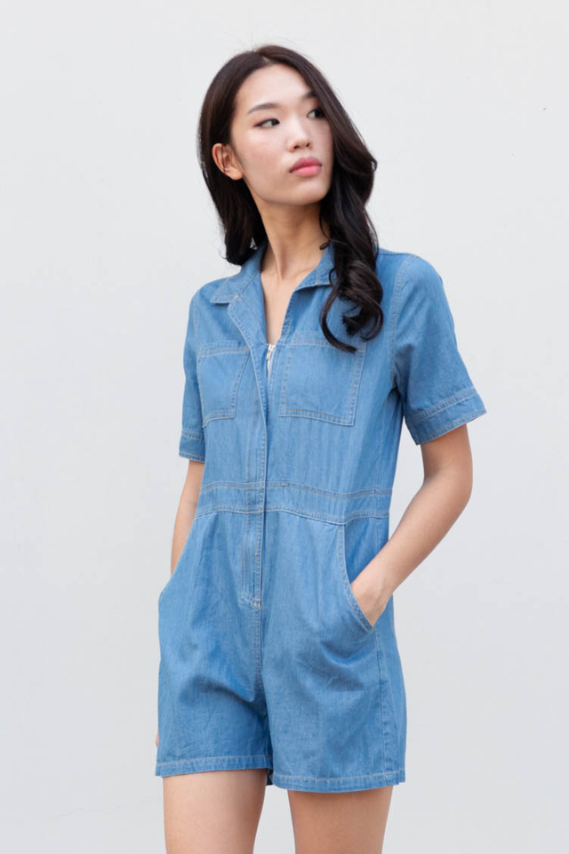 Teona Denim Romper
