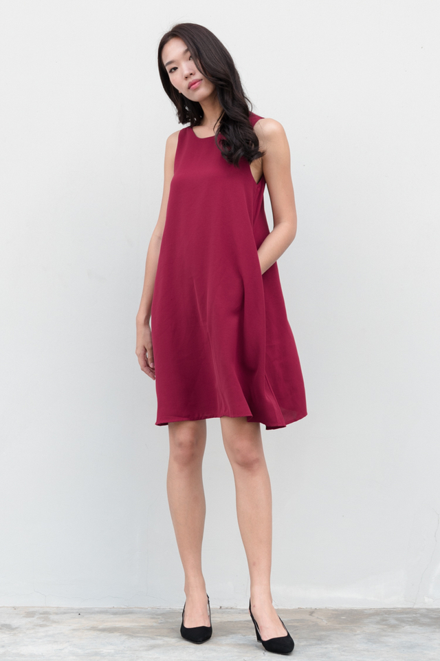 Jada Swing Dress in Magenta