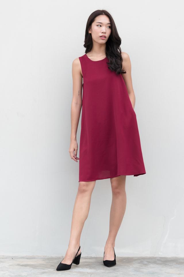 Jada Swing Dress in Magenta