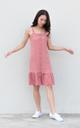 Jazlyn Button Drop Waist Dress in Rose