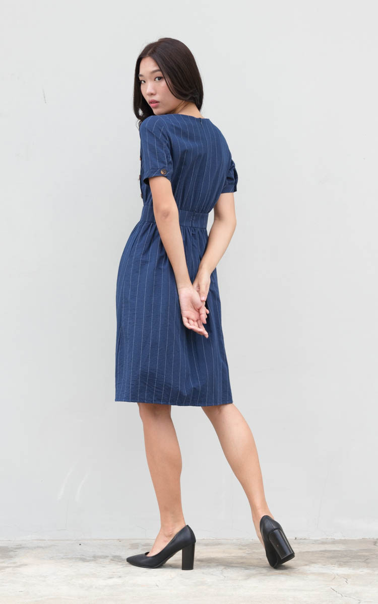 Kino Linen Striped Dress